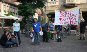Mahnwache in Ettlingen