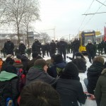 Blockade in der Hansastraße