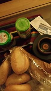 Brötchen, Butter, Marmelade, Schokocreme