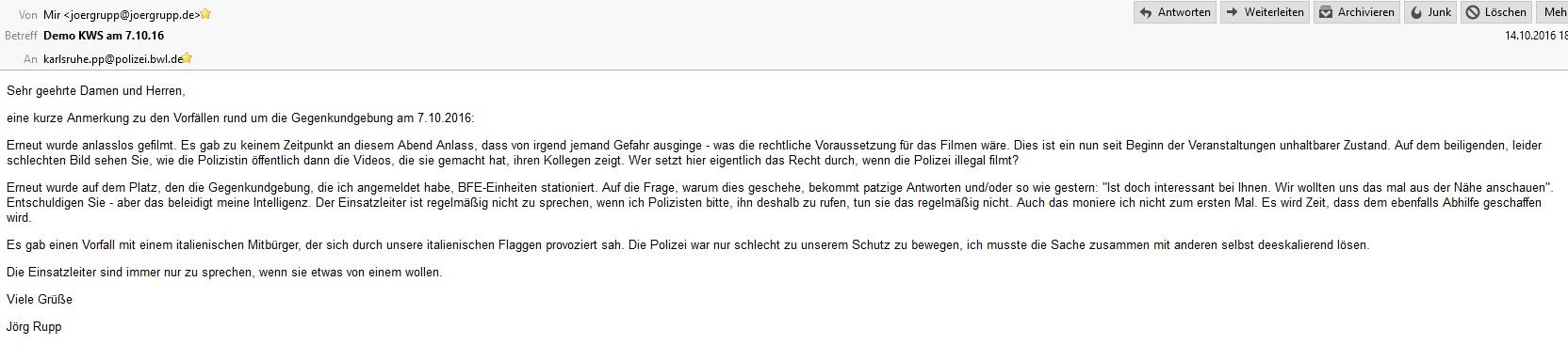 polizisten filem erlaubt