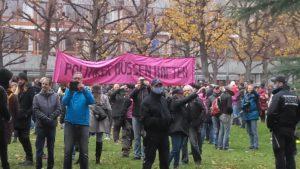Querdenken XYZ Demo vor dem Bundesverfassungsgericht